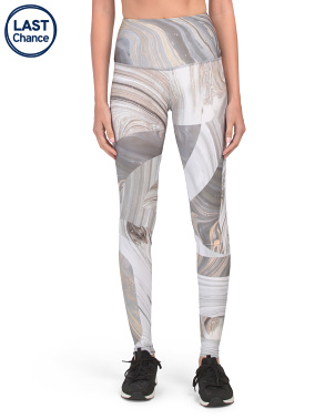 Made In USA Marble Geo Leggings