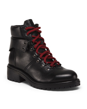 Made In Italy Leather Hiker Boots