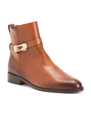Made In Spain Burnished Leather Booties