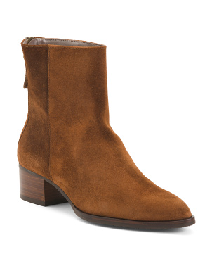 Made In Spain Pointy Toe Suede Booties