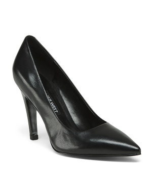 Pointy Leather Toe Pumps