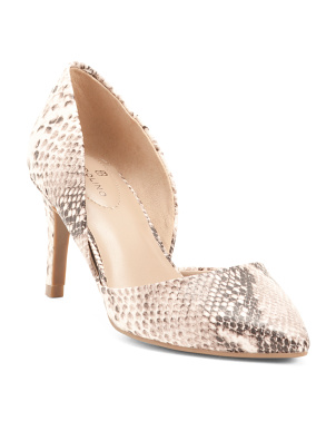 Pointy Toe Snakeskin Pumps