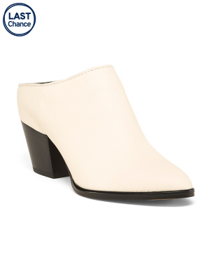 Heeled Pointy Toe Mules