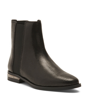 Round Toe Leather Boots