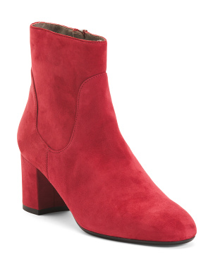 Made In Italy Suede Booties