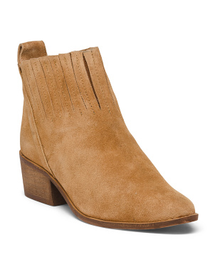 Suede Pull On Booties