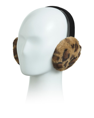 Faux Fur Earmuffs On Velvet Band