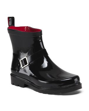Rain Booties With Buckle