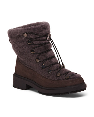 Shearling Suede Boots