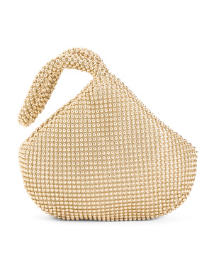 Staci Ball Mesh Fortune Cookie Evening Bag