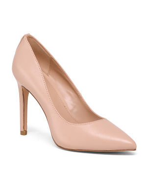 High Heeled Leather Pumps
