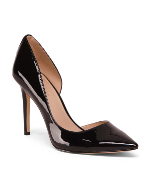 Faux Patent Leather High Heel Pumps