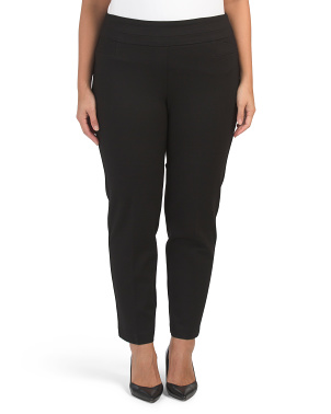 Plus Pull On Compression Ponte Pants
