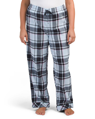 Plus Plaid Flannel Pants
