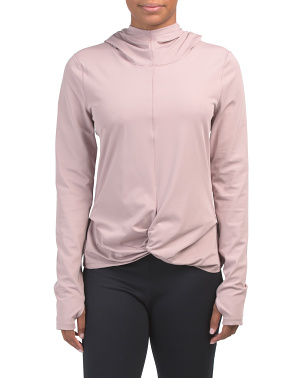 Hooded Front Knot Top