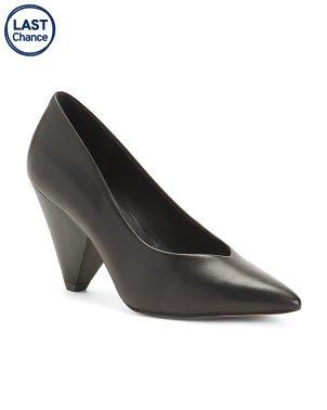 Pointy Toe Leather Pumps