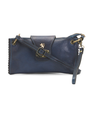 Made In Italy Leather Pouch Crossbody