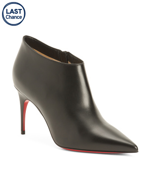 Made In Italy Pointy Toe Leather Booties