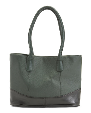 Casual Leather Tote