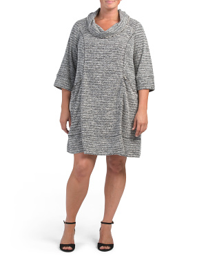 Plus Cowl Neck Knit Dress