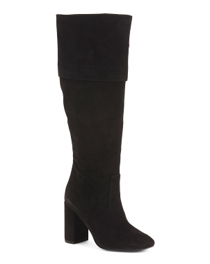 Suede Knee High All Day Comfort Boots