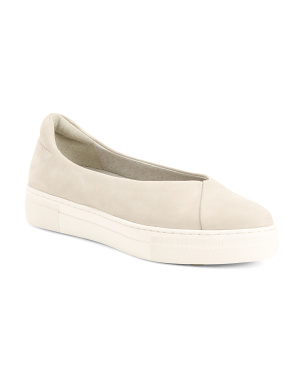 Nubuck Leather Slip On Fashion Sneakers