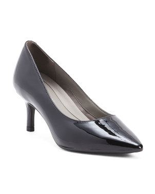 Pointy Toe Patent Leather Pumps