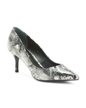 Snake Embossed Pumps
