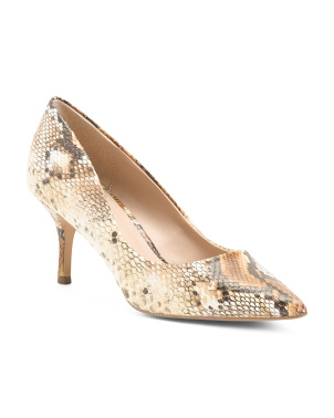 Snakeskin Embossed Pumps