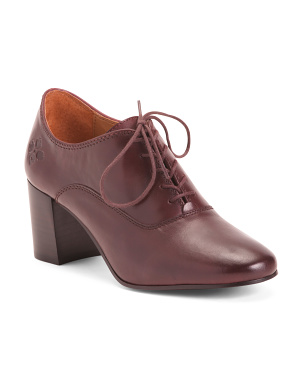 Leather Heeled Oxfords