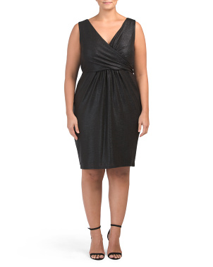 Plus Shimmer V-neck Dress