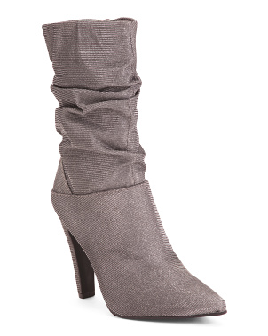 Scrunch Metallic Dress Booties