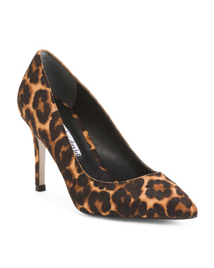 Leopard Printed Haircalf Pumps