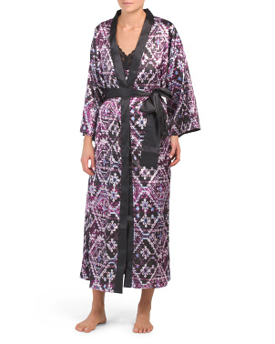Abstract Scroll Robe And Long Chemise Collection
